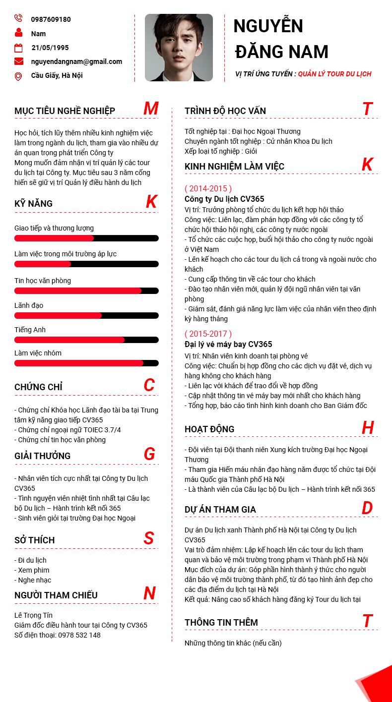Bí quyết tìm mẫu CV xin việc đơn giản