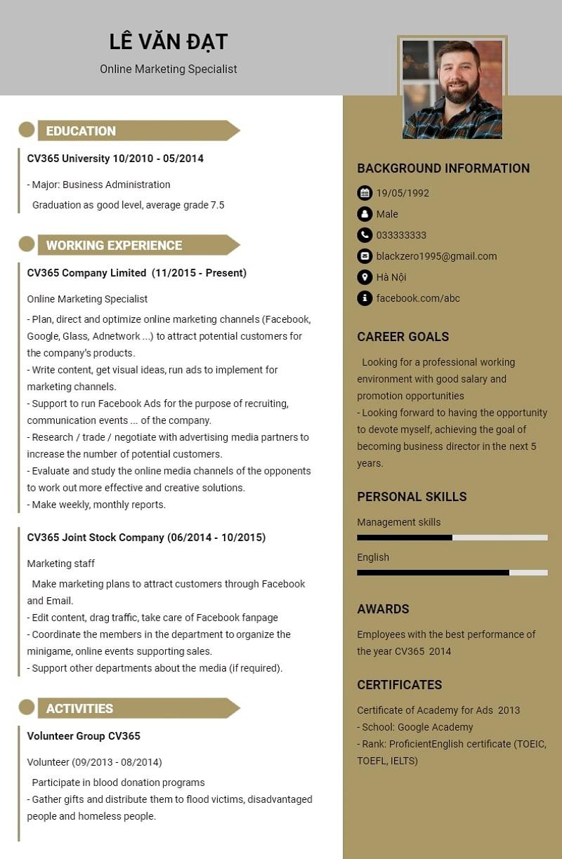 Lưu ý trong cách viết CV bằng tiếng Anh