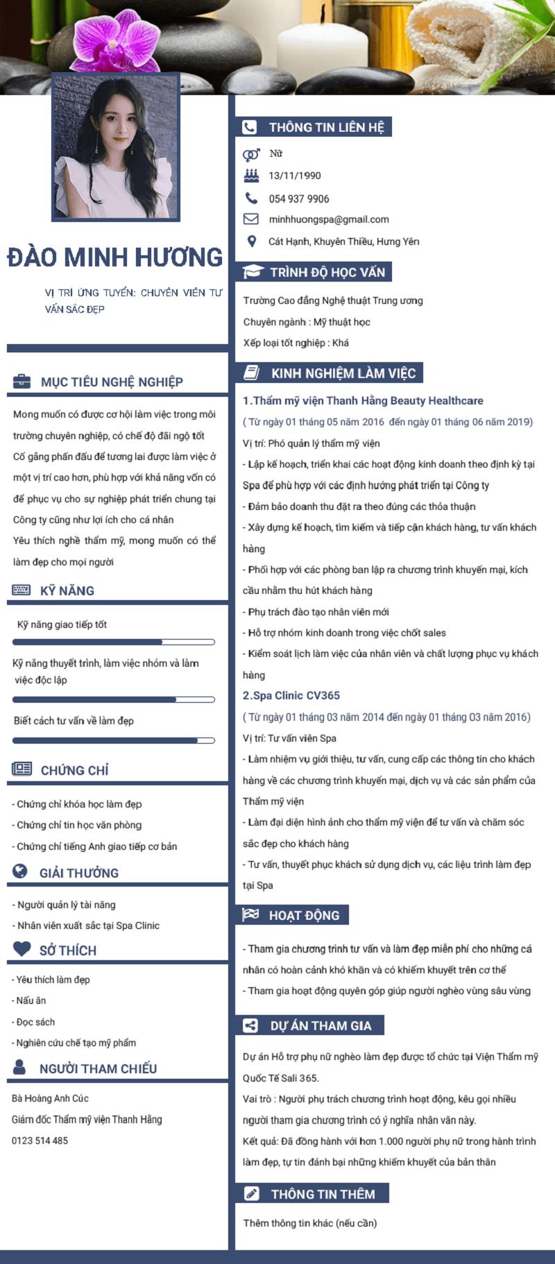 định nghĩa mẫu CV xin việc đẹp