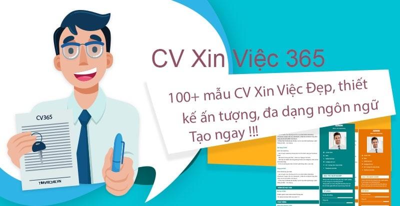 cv xin việc ở timviec 365.vn