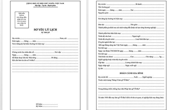 hồ sơ xin việc bao gồm