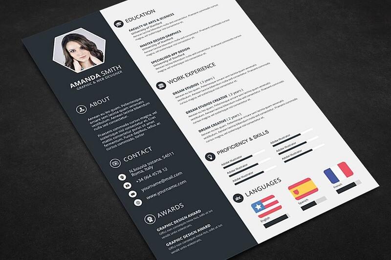CV có hình ảnh minh họa độc đáo