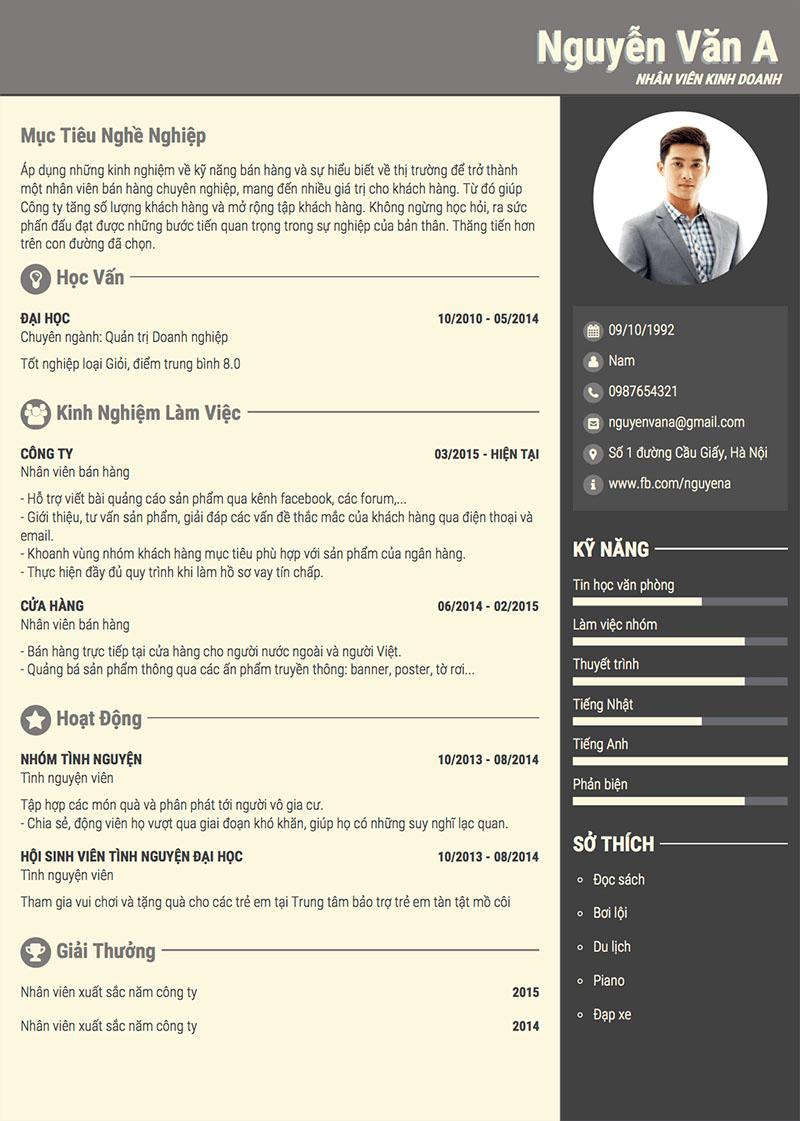 Tạo một không gian trống trong CV của bạn