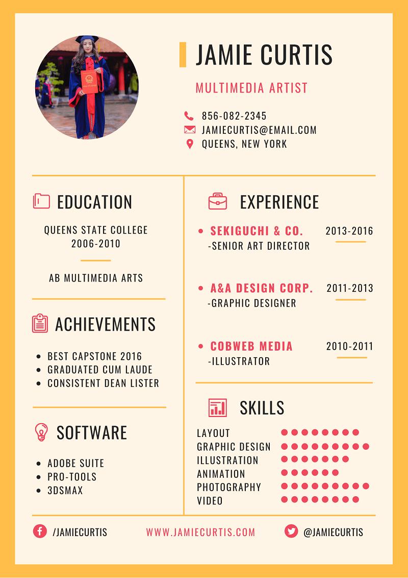Hướng dẫn viết theo mẫu CV thực tập chuẩn nhất
