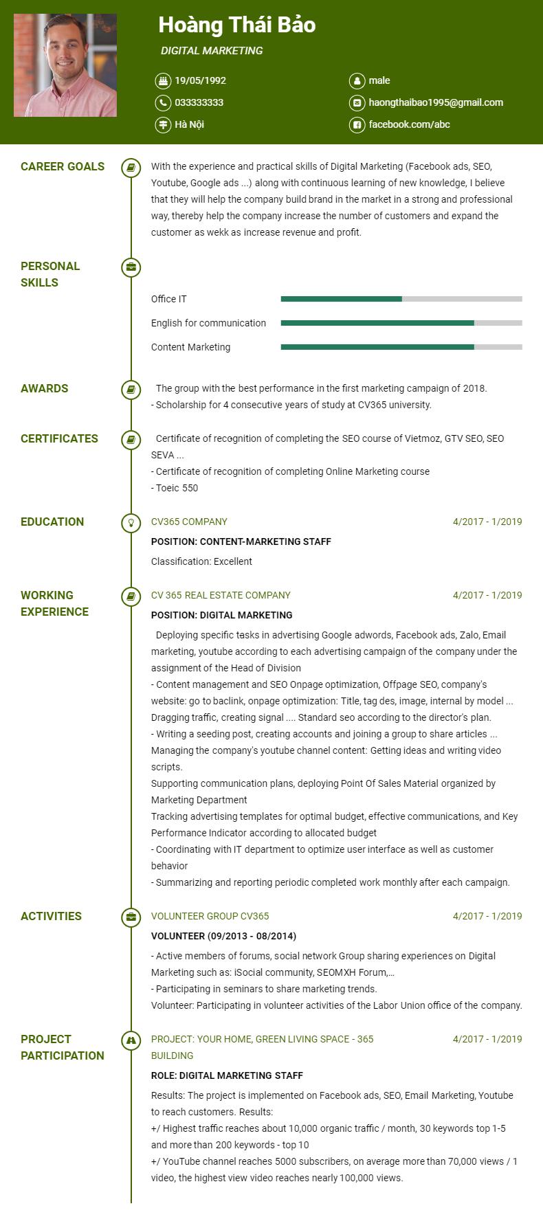 Viết và tải mẫu CV tiếng Anh uy tín và đạt chất lượng ở đâu?
