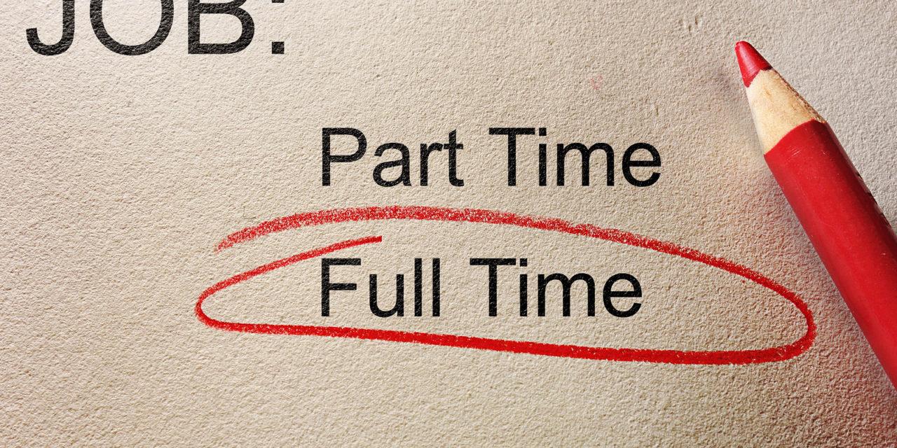 Chỉ cân nhắc các công việc toàn thời gian