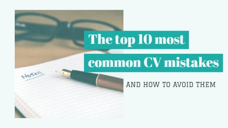 Top 10 lỗi viết CV phổ biến