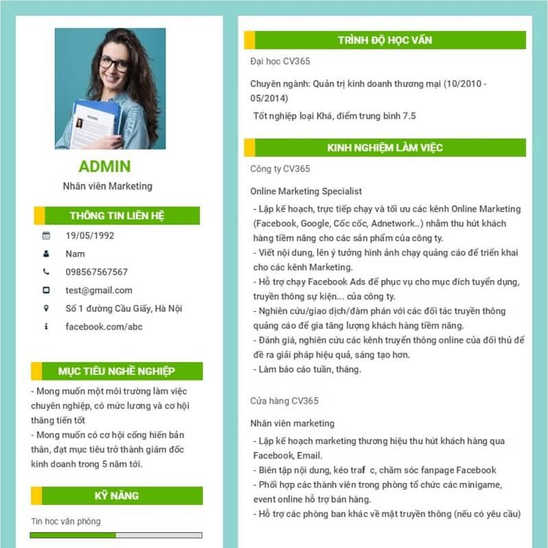 Cách tạo CV online free ấn tượng