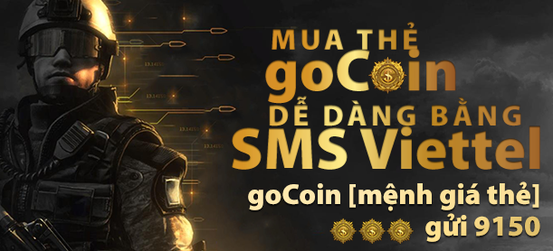 SniperStar.com - Mạng đthoại nào có thể sử dụng phương pháp nạp card game Gocoin bằng Message Viettel.