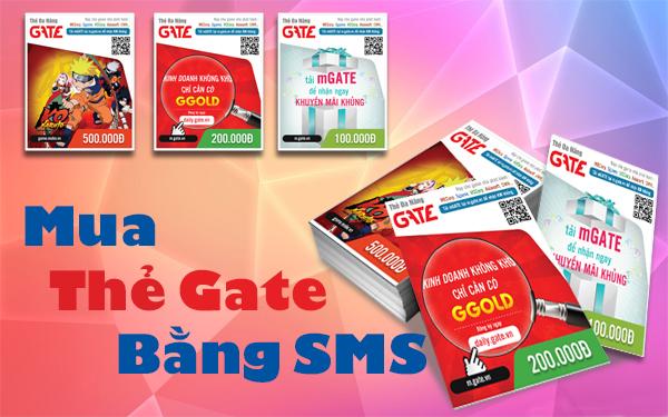 ZoonNews.com - Nạp thẻ Gate qua SMS Vina, Mobiphone vô cùng đơn giản
