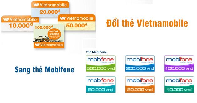 Chi tiết cách cách đổi thẻ Vietnamobile sang Mobifone