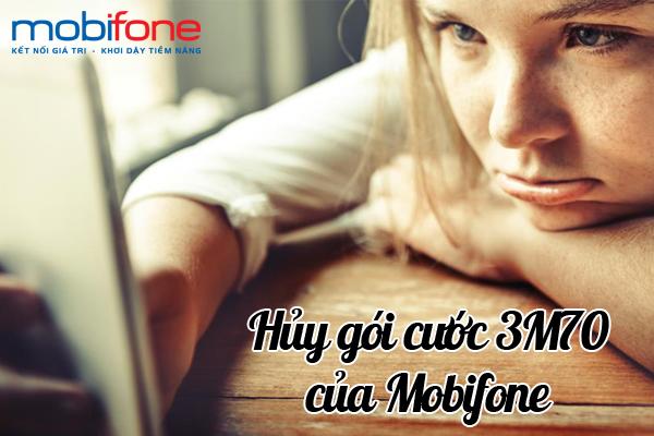 Cụ thể cách hủy nhanh gói cước 3M70 của Mobifone