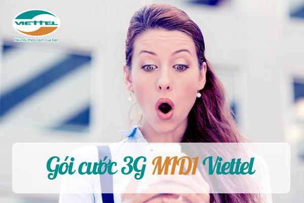Tận hưởng một ngày thật thú vị với gói 3G MID1 Viettel
