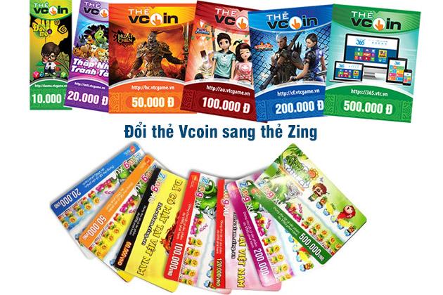 Hướng dẫn đổi thẻ Vcoin sang thẻ Zing đơn giản hơn bạn nghĩ