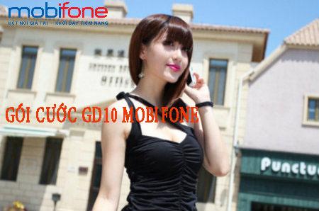 Ưu đãi hấp dẫn khi đăng kí gói cước GD10 Mobifone