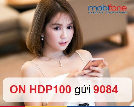 Thông tin cụ thể về gói ưu đãi HDP100 của Mobifone