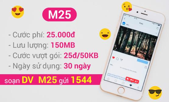 Thông tin gói cước 3G siêu rẻ M25 của Vinaphone