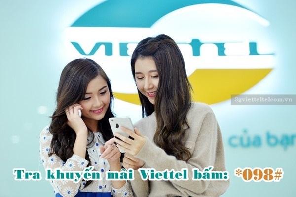 Cách tra cứu khuyến mãi nạp thẻ, khuyến mãi gọi, sms, data Viettel miễn phí