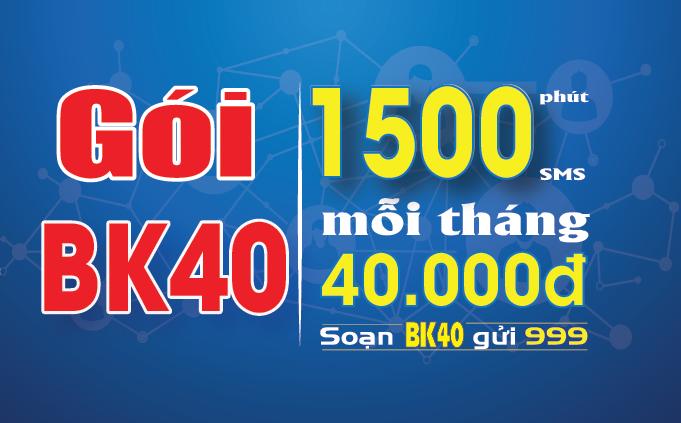 Cách đăng ký gói cước BK40 Mobifone chỉ 40K