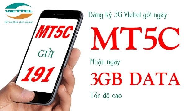Học cách đăng kí gói MT5C Viettel chỉ có 5.000 đồng