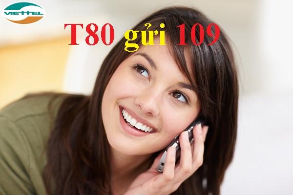 Gọi thoại thả ga với ưu đãi từ gói cước T80 Viettel