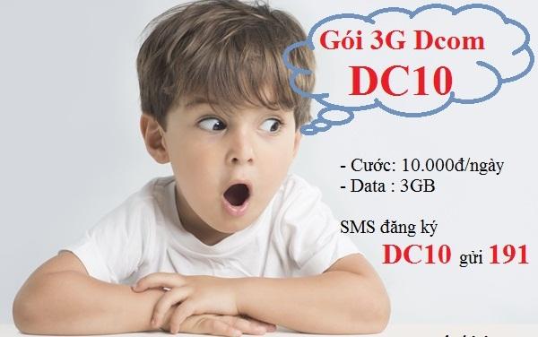 Hướng dẫn đăng ký gói cước DC10 Viettel cho sim Dcom