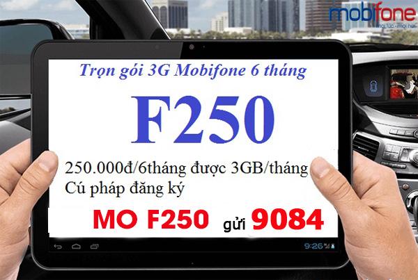 Cách đăng ký gói cước F250 Mobifone cho sim Fast Connect