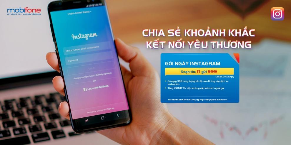 Lướt Ins thả ga với các gói cước data Instagram Mobifone