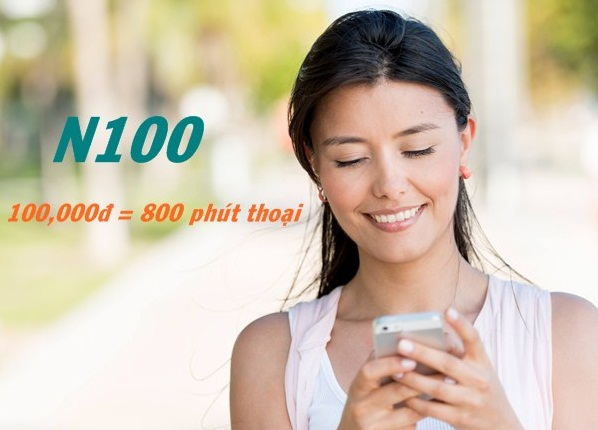 Tặng ngay 800 phút gọi nội mạng từ gói N100 Viettel