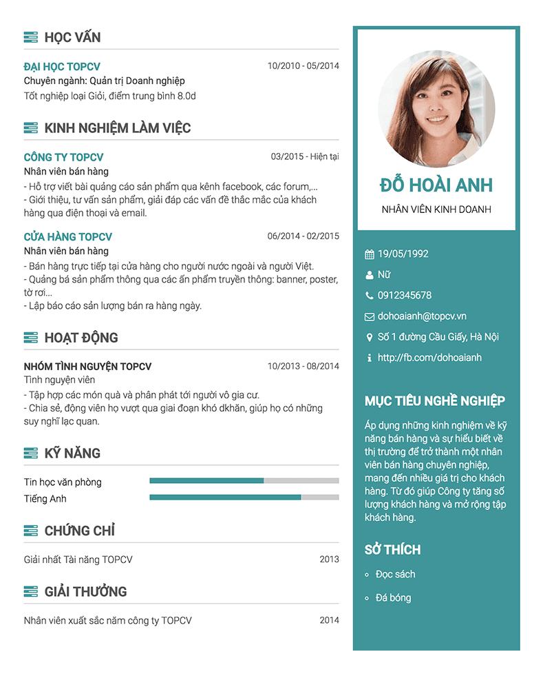 Điều gì tạo nên một mẫu CV tốt?