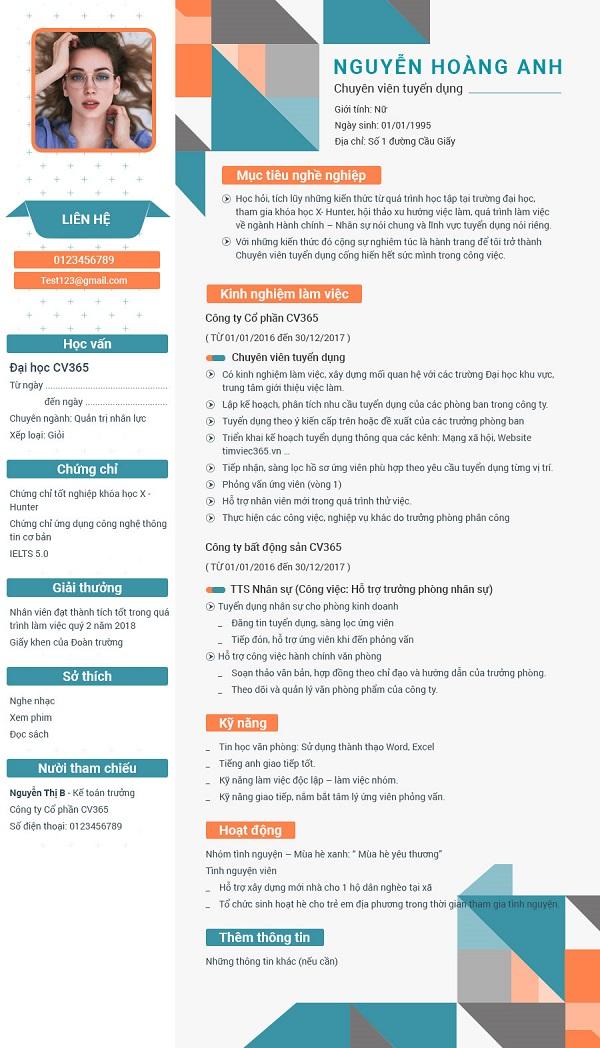 Tạo CV xin việc mẫu tiếng Anh hiệu quả nhất!